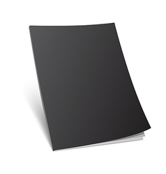 blank standing black magazine cover vector image