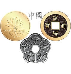 chinese coin vector image vector image