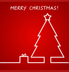 christmas outline background for vector image