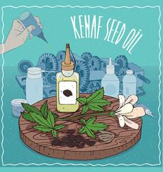 Kenaf seed oil used as grease lubricant vector