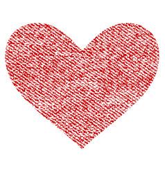 Love heart fabric textured icon vector