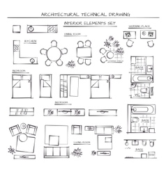 Set Of Interior Elements vector image