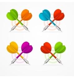 Color Darts Set vector image vector image