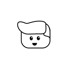 line man character head to video game technology vector image