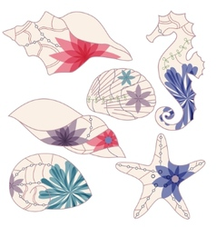 marine elements 2 vector image vector image