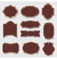 set 2 of design elements sample labels shapes vector image vector image