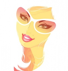 summer women blond vector image vector image