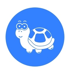 Turtle black icon for web and mobile vector image