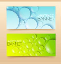 water drops banners set vector image vector image