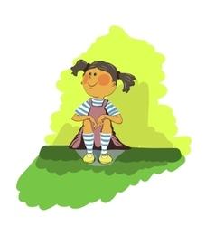 young girl dreams vector image vector image