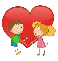 Young love vector image vector image