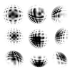 Abstract halftone circle design EPS 10 vector image