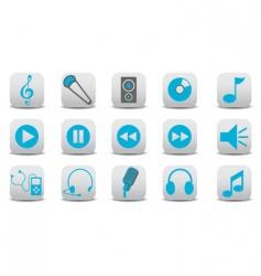 audio icons vector image