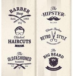 Barber Shop Emblems 1 vector image vector image