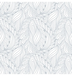 Hand drawn outline fashion seamless pattern vector image vector image
