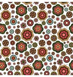 Mandala style flowers pattern vector image