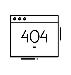 404 page line icon 404 page concept outline vector image