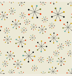 Abstract mid century space pattern vector