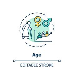 Age concept icon vector