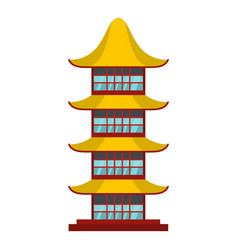 Asian temple icon flat style vector