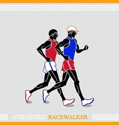 Athlete racewalkers vector image vector image