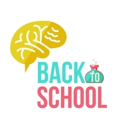 Back to school poster with human brain vector