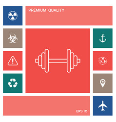 barbell line icon elements for your design vector image