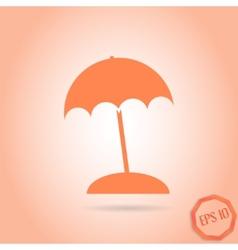Beach Icon Flat Design Style vector image