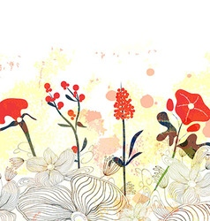 Beautiful floral watercolor background vector image