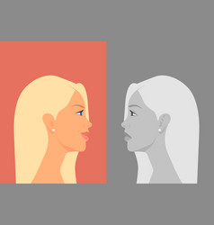 beautiful young woman with bipolar disorder vector image