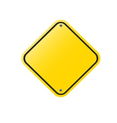 blank sign vector image