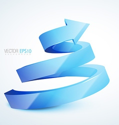 blue 3d sprial arrow vector image