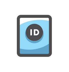 blue biometric passport icon cartoon vector image