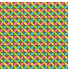 Bright abstract seamless pattern with multicolored vector image vector image