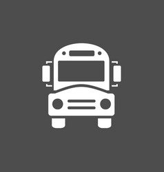 Bus school icon on a dark background vector