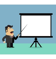 Business presentation scene vector