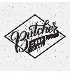 Butcher shop logotype vector