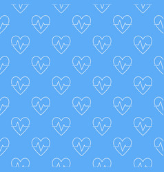 cardiac cycle blue seamless pattern or vector image
