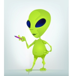 Cartoon Alien teacher vector