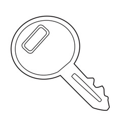 Cartoon image of key icon key symbol vector