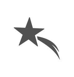 christmas star icon on white background vector image