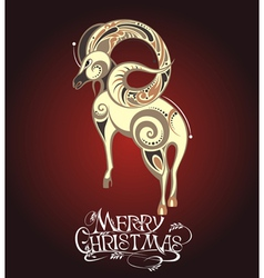 Christmas with Sheep vector image