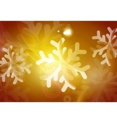 Christmas yellow abstract background with white vector image