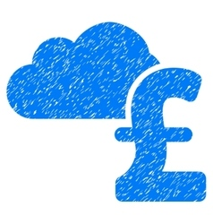 Cloud Pound Banking Grainy Texture Icon vector image