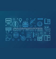Copywriter outline blue horizontal vector