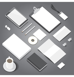 Corporate identity stationery objects mock-up vector