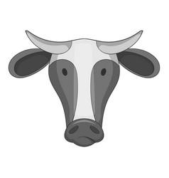 cow icon monochrome vector image