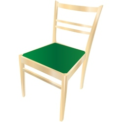 Dining chair with gradient vector image