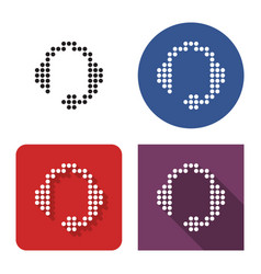 dotted icon headphones in four variants vector image