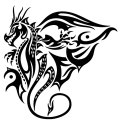 Dragon wings vector image